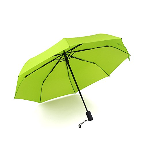 Winddicht Regenschirm, Wildlead Outdoor Regenschirm mit einhändiger Auf-Zu-Automatik Kompakter leichter Regen Sun Mini Regenschirm (Grün)