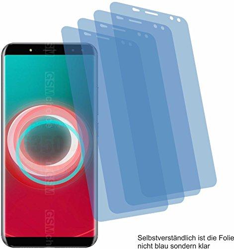 4ProTec 4X Crystal Clear klar Schutzfolie für Ulefone Power 3S Bildschirmschutzfolie Displayschutzfolie Schutzhülle Bildschirmschutz Bildschirmfolie Folie