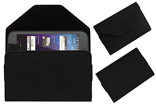 Acm Premium Pouch Case For Micromax Superfone Canvas 2 A110 Flip Flap Cover Holder Black  available at amazon for Rs.179
