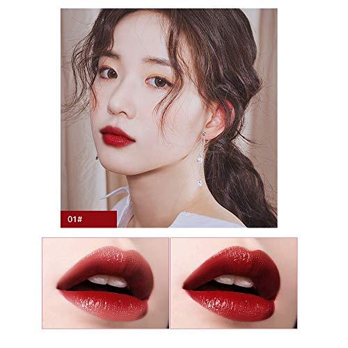 Aktionspreis,Lippenstift,PorLous Neu Beliebt Schönheit Makeup Bright Feuchtigkeitsspendender Lipgloss Lipstick Lang anhaltender Lipgloss Feuchtigkeitsspendend 1