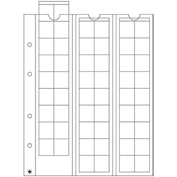Leuchtturm Feuilles Numismatiques OPTIMA pour 54 pi/èces de monnaie jusqu/à 20 mm /Ø transparent