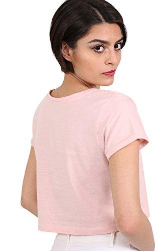 PILOT® aufdrehen Manschette Ernte T-Shirt blasses Rosa