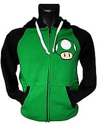 Hoodie 'Super Mario Bros' - Life - Noir/vert - L