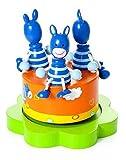 Mousehouse Gifts Baby Spieluhr Spieldose Holz mit Musik Safari Tier Zebra blau für Jungen und Mädchen