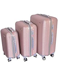 "RKV Hardside Suitcase Set With Wheels, 20"" (50.8 Cm) +24"" (61 Cm) +28""(71 Cm), (ROSE GOLD, 20 INCH)"