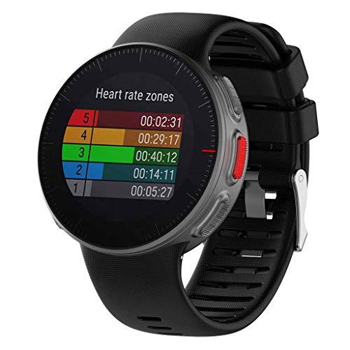 Cyond Sportuhren Armband wasserdicht/atmungsaktiv/Abriebfest/Kratzfest, Smartwatch/Fitness-Armband für Polar Vantage (Schwarz)