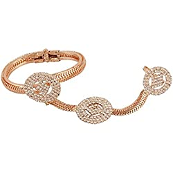 Shining Diva Rose Gold Ring with Bracelet For Women & Girls