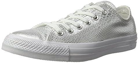 Converse Damen All Star Snake Sneaker, Mehrfarbig (Silver Metallic Reptile), 40 EU (Chuck Taylor Metallic Lo Top)