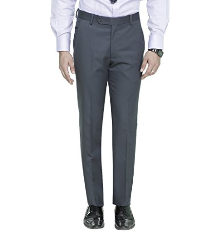 ManQ Men's Slim Fit Party/Formal Trousers (S17)