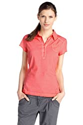 ESPRIT Sports Damen Poloshirt, C68706, Gr. 34 (XS), Orange (Morning Glory 616)