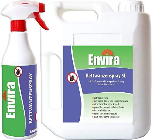Envira Bettwanzen-Spray - Anti-Bettwanzen-Mittel Mit Langzeitwirkung - Geruchlos & Auf...
