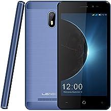 """moviles baratos, leagoo z6 3G 5.0"""" smartphone libres, Android 6.0 doble cámara 5MP+2MP Quad core CPU RAM 1GB + ROM 8GB 32GB Extendido telefono movil de Leagoo Direct,Azul"""