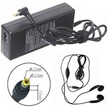 Amsahr 19V 3,68 A 70 W reemplazo adaptador de CA con el auricular estéreo para Gateway SA70 3105, 6.500.175 ordenador portátil