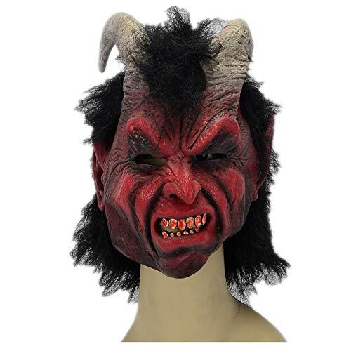 sterfest Nachtclub Karneval Roter Schafenteufel Maske ()