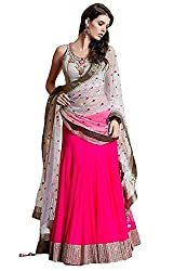 Texstile Pink Colour Net lehengas for women latest design(LA_Jumping_Lehenga)