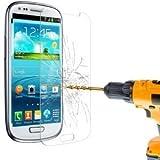 Hartglas Folie Schutzglas Displayschutz Folie aus gehärtetem Glas 0,3mm dünn für Samsung Galaxy S3 Mini ( auch für viele andere Handys und Tablets)