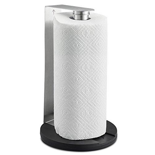 SILBERTHAL Küchenrollenhalter Edelstahl – stehend oder zur Wandmontage – Küchenpapierhalter 17 x 30 cm