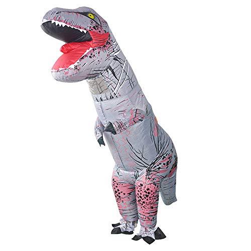 Edelehu Tyrannosaurus Performance-Kostüm Halloween Aufblasbare Kleid Dinosaurier Cosplay Kostüm Lustige Aufblasbare Geeignet Für Clubs Geburtstagsfeiern Schnelle Inflation Erwachsene Größe (Schnelle Halloween-kostüme Lustige Für Erwachsene)