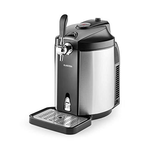 Klarstein Skal Beer shooter • 5L barrels dispenser • Thermoelectric cooler • LED indicator tap • CO² pressure cartridges • Heineken adapter • Polished stainless steel • Silver
