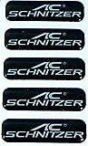 5 x AC Schnitzer Emblem Vitro Aufkleber schwarz ca. 40x11mm