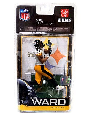 Hines Ward Jersey (McFarlane Toys NFL Sports Picks Series 24 Action Figure Hines Ward (Pittsburgh Steelers) White Jersey Yellow Pants Classic Collector Level by Unknown)