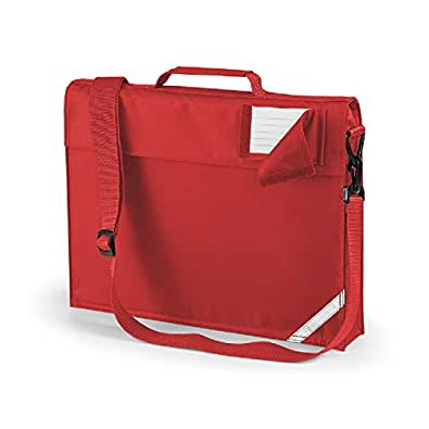 Quadra junior book bag with strap in red