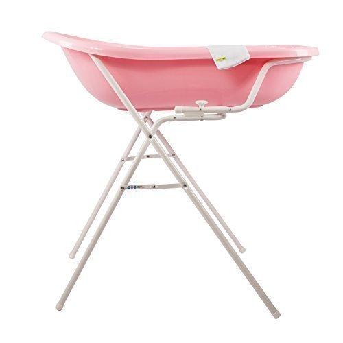 Baby Badewanne rosa XXL + Badewannenständer + Waschhandschuh