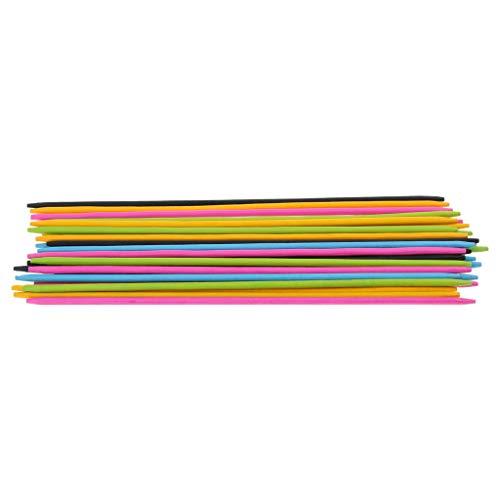 FLAMEER 30x Bunte Mikado Spiel Pick Up Sticks mit Würfel, Spaß für Party Reisen und Alltag (Spiel Pick Sticks Up)