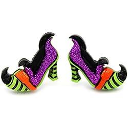 Pendientes zapato de bruja