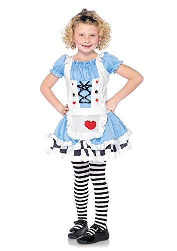 Leg Avenue C48102 - Miss Wunderland Kostüm Set, Größe M, blau/weiß (Miss Wunderland Halloween Kostüm)
