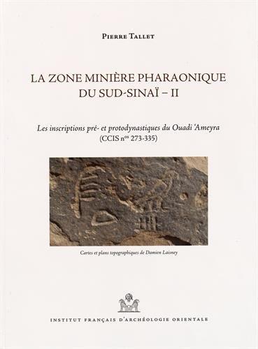 La zone minière pharaonique du Sud-Sinaï : Volume 2, Les inscriptions pré- et protodynastiques du Ouadi 'Ameyra (CCIS n° 273-335)