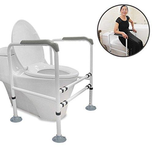 Badezimmer Handlauf Badezimmer Toilette Toilette Toilette Barriere Handlauf Safe Behinderte Badezimmer Rutschfeste ältere Menschen,White