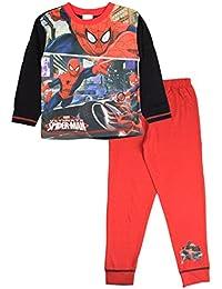 Kids Boys Pyjamas Marvel Spiderman Pyjama Set 2 Piece Pjs Long Childrens Size UK 1 - 10 Years
