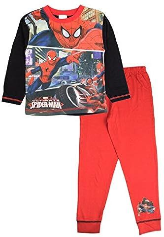 Spiderman - Ensemble de pyjama - Manches Longues - Garçon - rouge - 5-6 ans