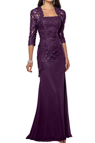 Charmant Damen Elegant Blau Satin Abendkleider Partykleider promkleider Brautmutterkleider Lang Schmaler Schnitt Dunkel Traube