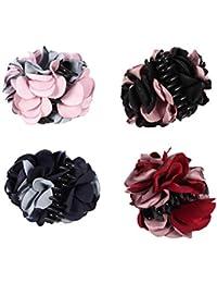 Frcolor Pinzas para el Pelo con diseño de Flores, 4 Unidades