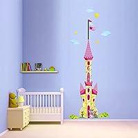 DecalMile Gigantes Castillo de Princesa Pegatinas Decorativas Nube Desmontable Pegatinas de Pared Decorativos para Habitacion Niña Bebe Infantiles Dormitorio Vivero