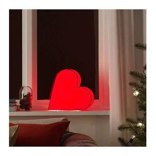STRALA IKEA Tischdekoration in rot; in Herzform; Weihnachtsbeleuchtung; (30cm); A++