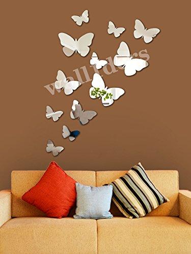 Wall1Ders Wall1ders 3D Acrylic Mirror Butterflys.