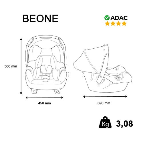 Nania Beone SP Luxe Group 0+ Infant Car Seat, Disney Cars