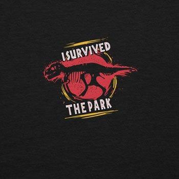 Planet Nerd - I survived the Park - Herren T-Shirt Schwarz