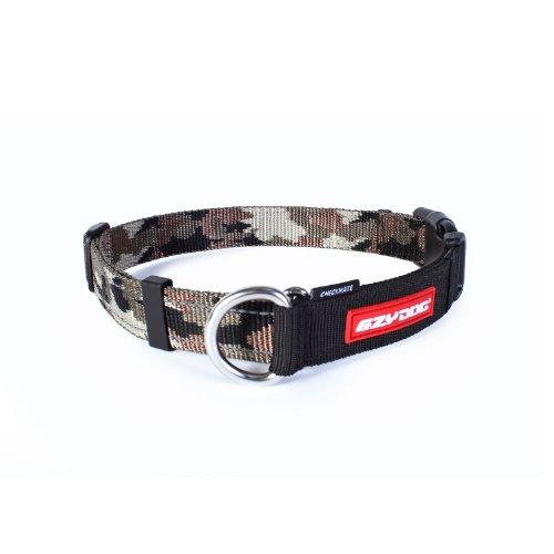 EzyDog Checkmate Hundehalsband - Halsband Hund - Zugstopp Halsband für Hunde - Zughalsband für hunde - Trainings und Dressurhalsband. Schlupfhalsband für Große, Mittlere und Kleine Hund (M, Camo)