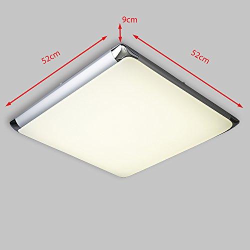 Natsen® 30W Moderne LED Deckenlampe mit Fernbedienung voll dimmbar ...