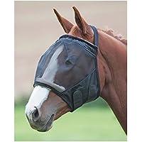 Shires-Malla Fina Earless volar máscara, negro, Small Pony