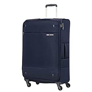 Samsonite Base Boost Spinner M Maleta Expansible, 78 cm, 105/112.5 L, Azul (Navy Blue)