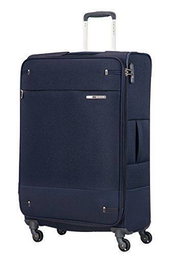 Samsonite Base Boost Spinner 78/29 Erweiterbar Koffer, L (78cm-112,5L), 105 L, blau (Navy Blue)