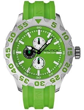 Nautica–A15580G–Armbanduhr–Quarz Analog–Zifferblatt Grün Armband Silikon Grün