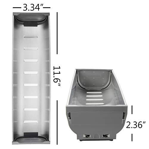 Edelstahl Besteck, Messer, Gabel und Tablett Box Einsatz Schrank Küche Schublade Aufbewahrung Organizer Maße: 29,5 x 8,4 x 5,8 cm -