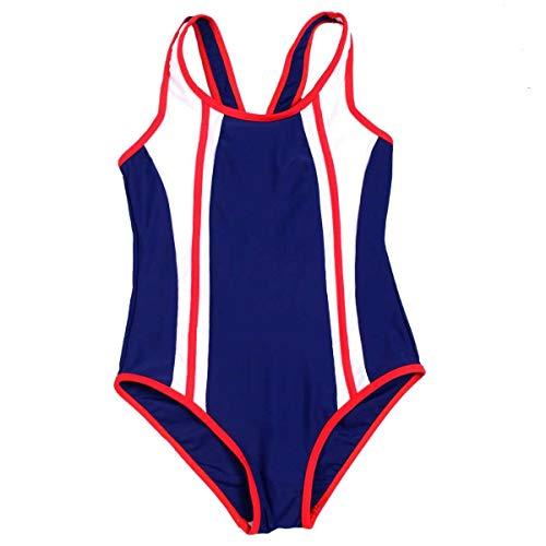 YQXR Telefon zubehör Neue 2019 Mädchen Einteilige Badebekleidung Drucken Hohe Taille Schwimmen Racing Anzug (Color : 2, Size : 12-14T)