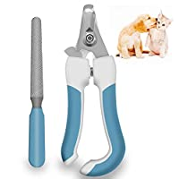 Pets Dog and Cat Nail Clippers, with Pet Safety Guard & Lock | Stainless Steel, Very Easy to Use - Best Pet Nail Trimmers for Animals